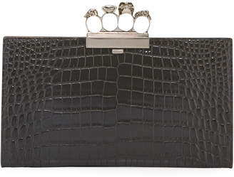 Alexander McQueen Skull Four-Ring Flat Pouch Clutch Bag