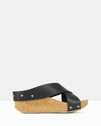 Airflex Franca Cork Wedge Sandals