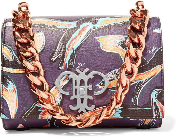 Emilio PucciEmilio Pucci Printed textured-leather shoulder bag