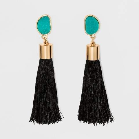 SUGARFIX by BaubleBar Tassel Drop Druzy Earrings