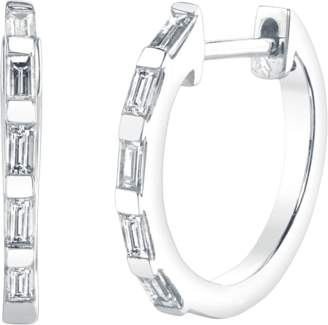 Shay Jewelry Mini Baguette Diamond Huggies Earrings