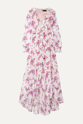 Rachel Zoe Thea Ruffled Floral-print Chiffon Maxi Dress - White