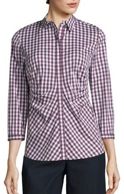 Lafayette 148 New York Pleated Button-Front Shirt $278 thestylecure.com