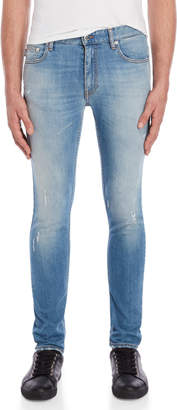 Love Moschino Faded Distressed Slim Fit Jeans