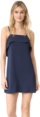 alice + olivia Etta Ruffle Slip Dress $254 thestylecure.com