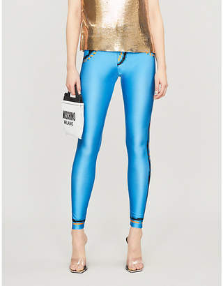 Moschino Pixel-print stretch-jersey leggings