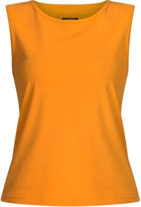 Gisy Holland Orange Boat-Necked Tank Top