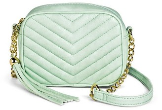 Mossimo Supply Co Women's Quilted Crossbody Faux Leather Handbag with Tassel - Mossimo Supply Co. $22.99 thestylecure.com