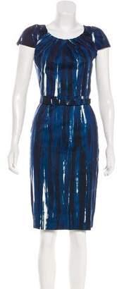 Samantha Sung Printed Cap Sleeve Dress
