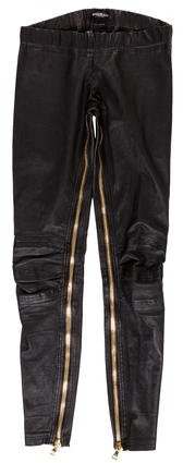 Balmain Balmain Leather Moto Leggings