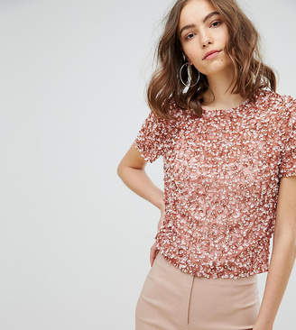 Asos Tall T-Shirt With Sequin Embellishment