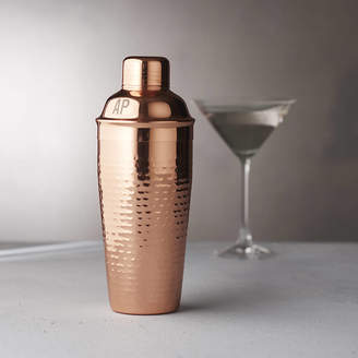Becky Broome Personalised Initials Hammered Copper Cocktail Shaker