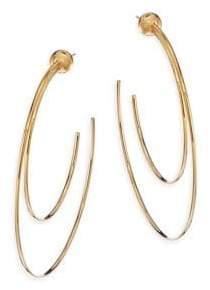 """Vita Fede Sfera Duo Hoop Earrings/2.6"""""""