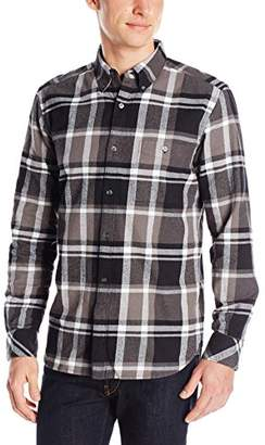 French Connection Men's Winter Plaid Woven Button-Front Shirt