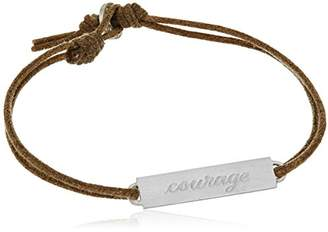 Me & Ro Me&Ro Sterling Double-Sided Courage ID Cord Strand Bracelet