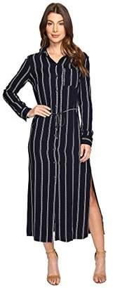 Splendid Women's Rope Stripe Shirtdress Maxi
