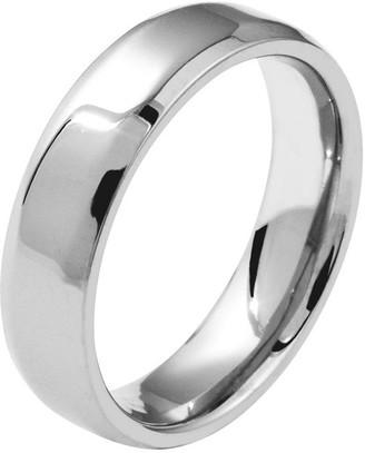 Titanium Beveled Edge 8mm Polished Ring