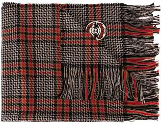 Gucci check pattern scarf