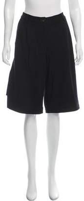 Public School Wide-Leg Knee-Length Shorts