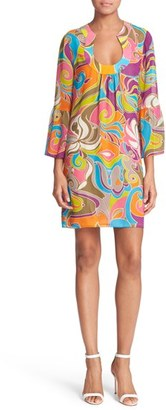 Women's Trina Turk 'Bonita' Print Silk Shift Dress $328 thestylecure.com