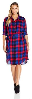 Lucky Brand Women's Plus Size Bungalow Plaid Dress in