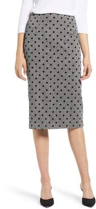 Halogen Dot Pencil Skirt