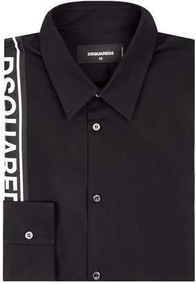 DSQUARED2 Logo Tape Cotton Shirt