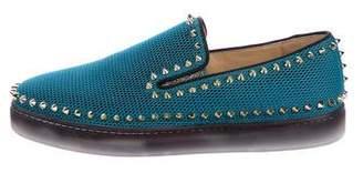 Christian Louboutin Studded Mesh Sneakers