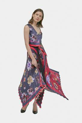 Yigal Azrouel Floral Pleated Handkerchief Dress