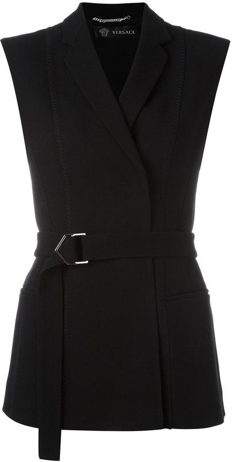 VersaceVersace cross button waistcoat