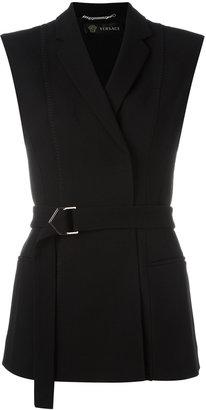 Versace cross button waistcoat $2,187 thestylecure.com