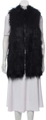 Diane von Furstenberg Taryn Fox Fur Vest
