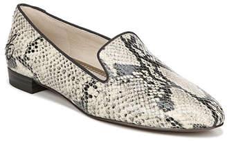 Sam Edelman Jordy Snake-Print Leather Loafers