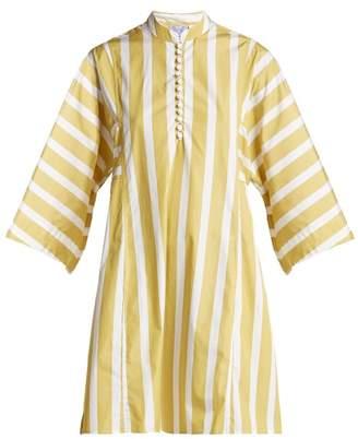 Thierry Colson Nautical Rachel Cotton Poplin Dress - Womens - Yellow Stripe