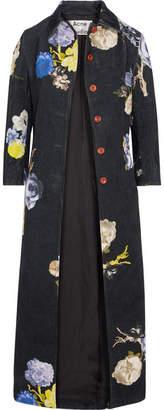 Acne Studios Printed Corduroy Jacket - Black