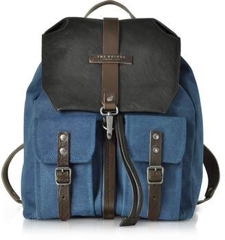 The Bridge Carver-D Canvas and Leather Men's Backpack w/Flap Top