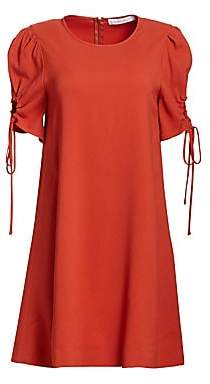 See by Chloe Women's Ruched Sleeve Shift Dress