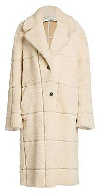Off-White Women's Long Shearling Coat