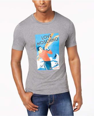 Love Moschino Men's Ski Graphic T-Shirt