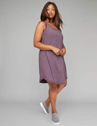 Active Double Scoop-Neck Dress with Built-In Low Impact Sport Bra