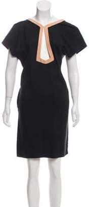Balenciaga Textured Shift Dress Black Textured Shift Dress