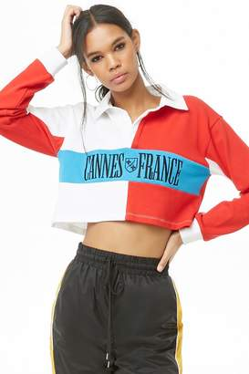 Forever 21 Colorblocked Cannes France Shirt