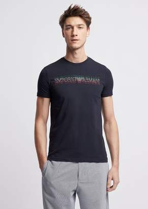 Emporio Armani Made In Italy T-Shirt With Italian Flag Logo