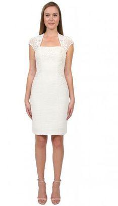 Sue Wong - Bolero Sheath Dress in Off White Cocktail Dress $572 thestylecure.com