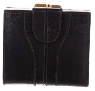 Valextra Leather French Purse Wallet