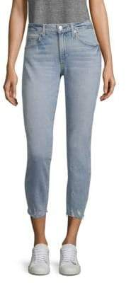 Amo Stix Cropped Distressed Jeans