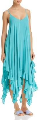 Bleu Rod Beattie Handkerchief-Hem Dress Swim Cover-Up