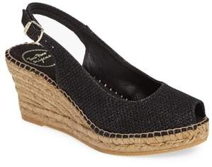 Toni Pons Calafell Slingback Wedge Espadrille