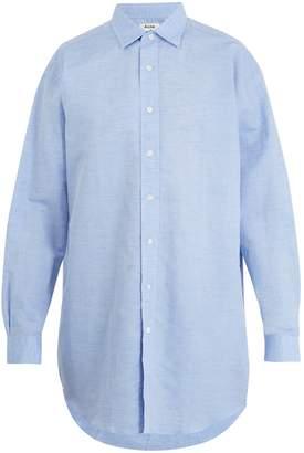Acne Studios Atlant linen-blend chambray shirt