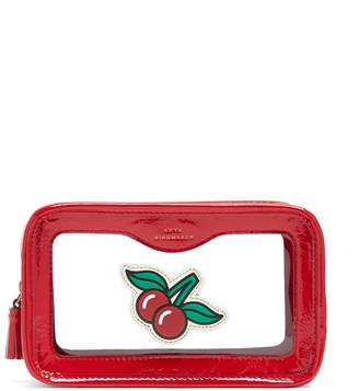 Anya Hindmarch Cherries Leather make-up bag